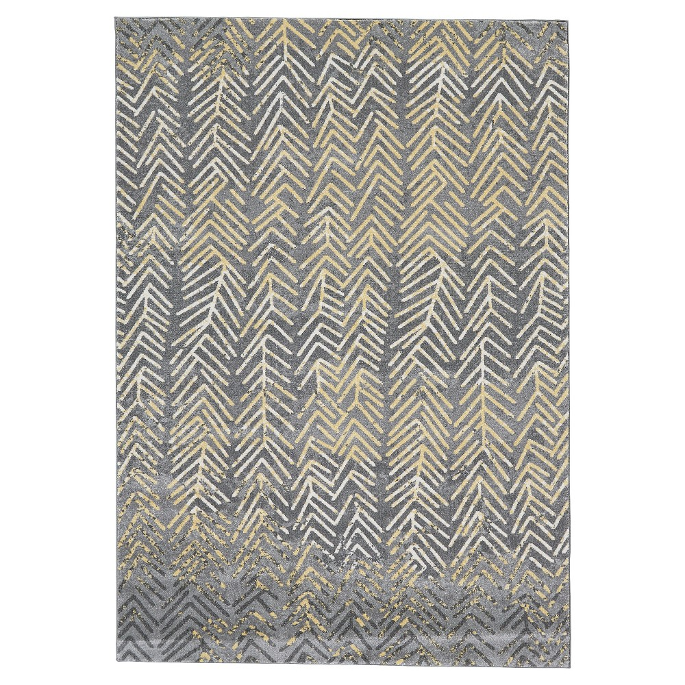 Stone Gray Tribal Woven Area Rug - (10'X13'2) - Room Envy