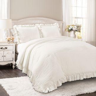 King Reyna Comforter Set White - Lush Décor