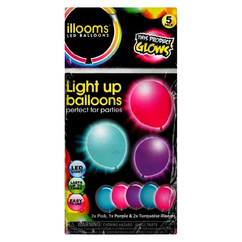 5ct illooms® LED Light Up Mixed Solid Balloon - image 1 of 1