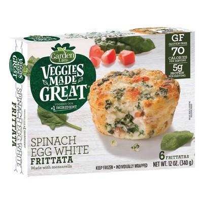 Garden Lites Veggies Made Great Frozen Spinach Egg White Frittata - 12oz/6ct