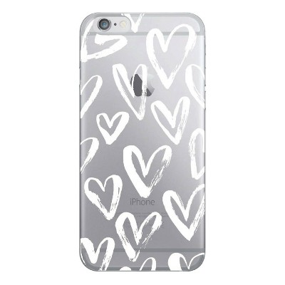 OTM Essentials Apple iPhone SE (2nd gen)/8/7/6s/6 Clear Case - White Hearts