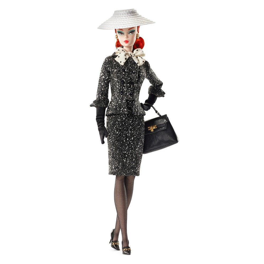 Barbie Collector Bfmc Black & White Tweed Suit Doll