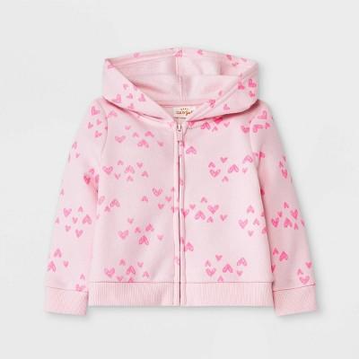 Baby Girls' Heart Fleece Hoodie Jacket - Cat & Jack™