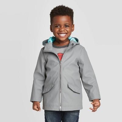 Toddler Boys' Shark Rain Jacket - Cat & Jack™ Gray 12M