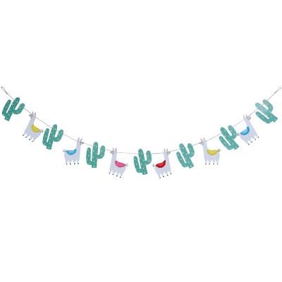 Llama Birthday Banner