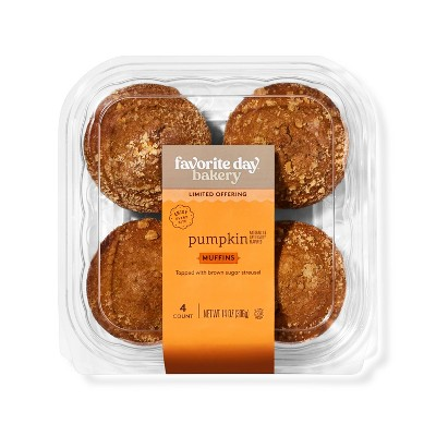 Pumpkin Muffins with Streusel - 16oz/4ct - Favorite Day™
