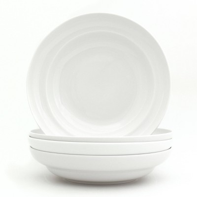 33oz 4pk Ceramic Essential Pasta Bowls White - Euro Ceramica