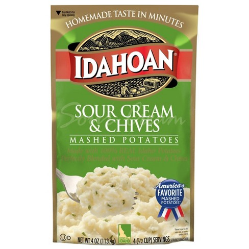 Idahoan Sour Cream & Chives Mashed Potatoes - 4oz - image 1 of 3