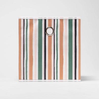 "11"" Fabric Cube Storage Bin Stripe - Room Essentials™"