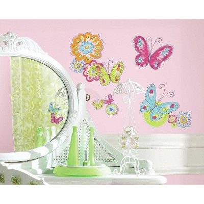 Brushwork Butterfly Peel and Stick Wall Decal - RoomMates