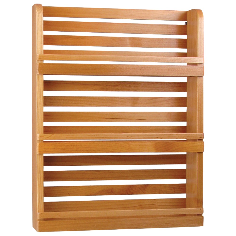 3-Tier Alder Wood Spice Rack