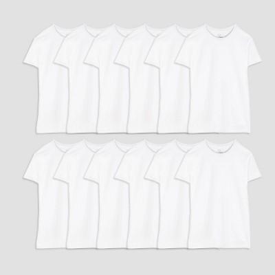 Fruit of the Loom Men's Super Value Crew T-Shirt 6+6pk - White L