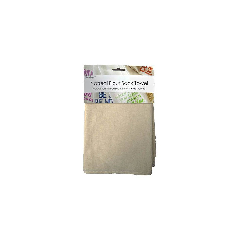 "Image of ""Craft Basics 13"""" x 13"""" 10pk Natural Flour Sack Towel, Beige"""