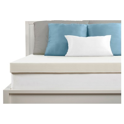 Comfort Revolution 4  Memory Foam Topper - White (King)