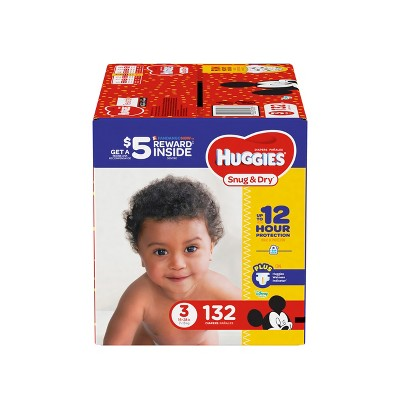 Huggies Snug & Dry Diapers Super Pack - Size 3 (132ct)
