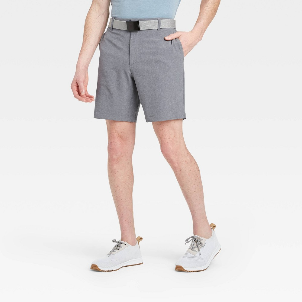 Men's Big & Tall Heather Golf Shorts - All in Motion Gray 44 was $30.0 now $20.0 (33.0% off)