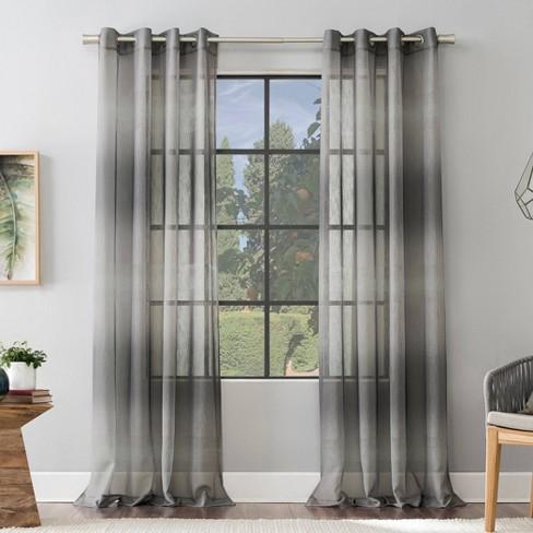 Atlantic Ombre Open Weave Sheer Grommet Top Curtain Panel - Scott Living - image 1 of 4