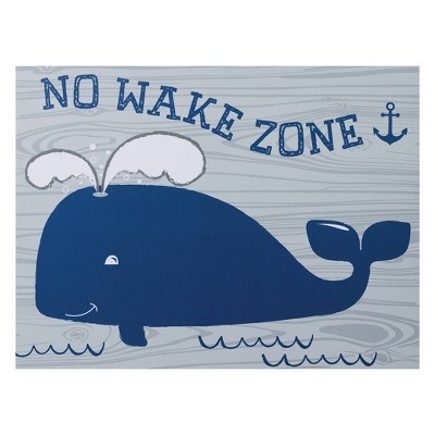 Trend Lab Unframed Wall Canvas Whale