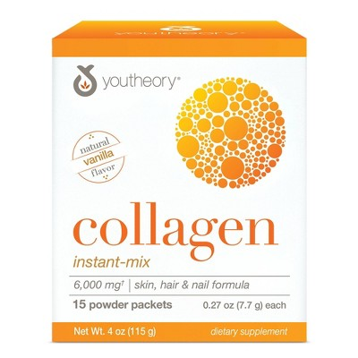 Youtheory Collagen Instant-Mix Powder Packets - 15ct