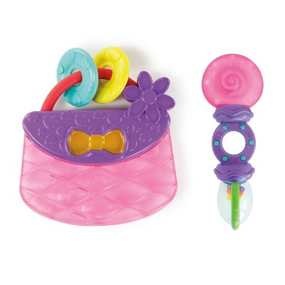 Bright Starts Tote & Teethe Rattle Teether - 2pc
