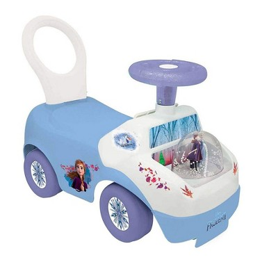 Kiddieland 060889 Toys Frozen 2 Magical Lights and Sounds Snow Globe Ride On Toy Sit Stand with Character Graphics and Sounds for Kids 12 to 36 Months