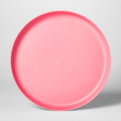 9.6  Plastic Kids Dinner Plate Pink - Pillowfort™