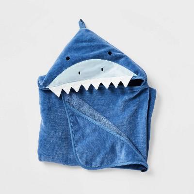 """25""""x50"""" Shark Hooded Towel - Pillowfort™"""