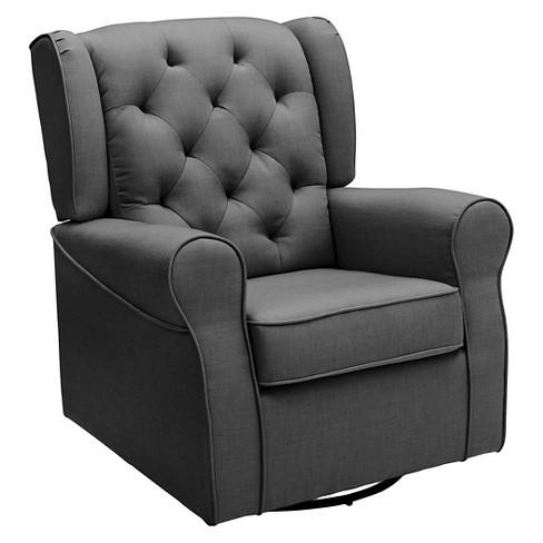 Delta Children Emma Nursery Glider Swivel Rocker Chair Charcoal Target