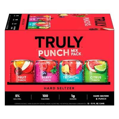 Truly Hard Seltzer Punch Mix Pack - 12pk/12 fl oz Slim Cans