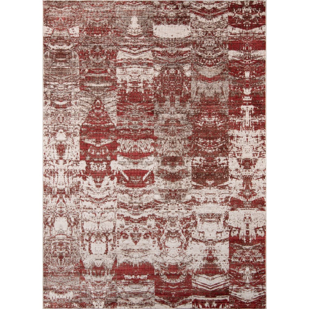 Red Shapes Loomed Area Rug 8'x10'2 - Momeni