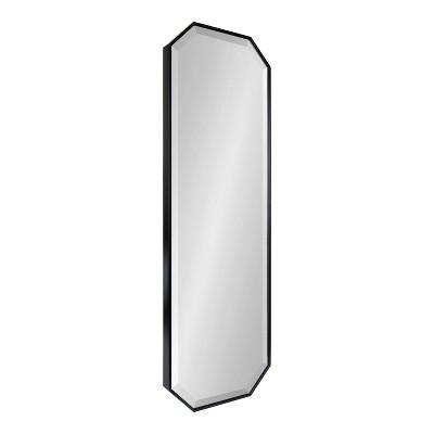 "16"" x 48"" Rhodes Full Length Wall Mirror Black - Kate & Laurel All Things Decor"