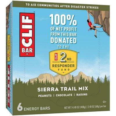 CLIF Bar Sierra Trail Mix Energy Bars - 6ct