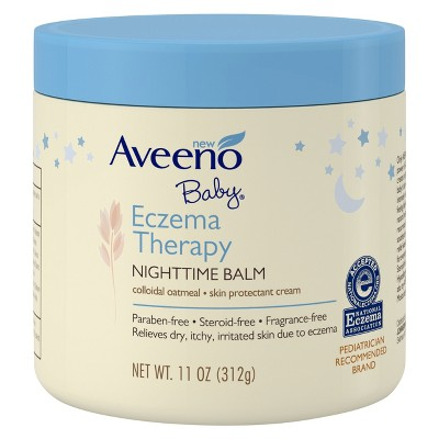 Aveeno Baby Eczema Therapy Nighttime Balm with Natural Oatmeal -11oz