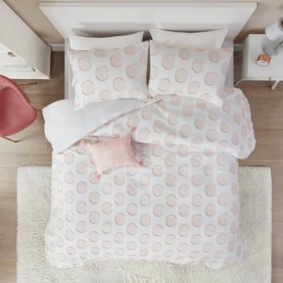 Kiara Clipped Jacquard Duvet Cover Set