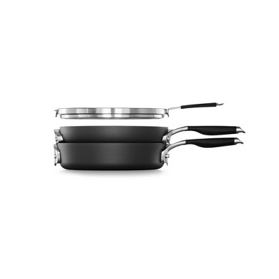 Calphalon Select 3pc Space Saving Hard-Anodized Nonstick Cookware Set