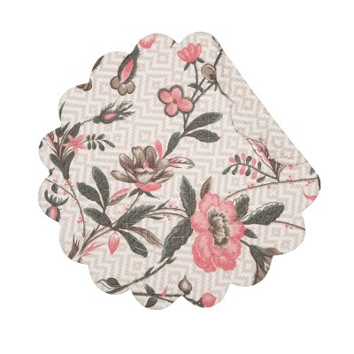 C&F Home Blair Garden Cotton Quilted Round Reversible Placemat Set of 6