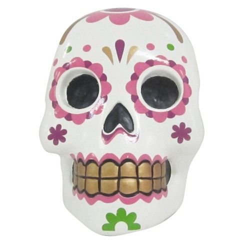 35 Day Of The Dead Ceramic Skull Pink Target