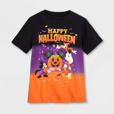 Men's Disney Mickey Mouse Happy Halloween Short Sleeve Graphic T-Shirt - Black - Disney Store