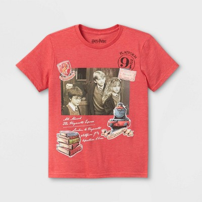 Boys' Harry Potter Short Sleeve Graphic T-Shirt - Red