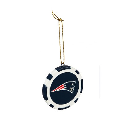 Evergreen Game Chip Ornament, New England Patriots