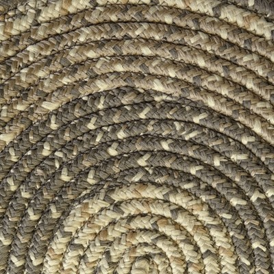 Lakeside 5' Braided Runner Rug with Vintage Style For Entryways, Living Rooms