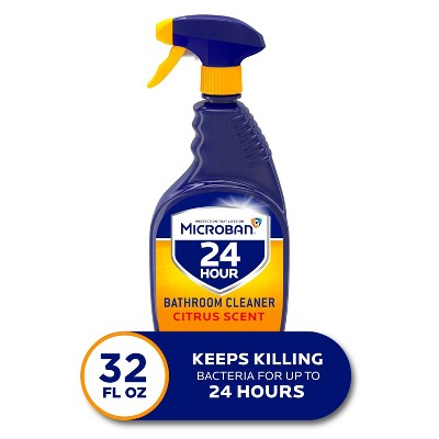 Microban 24 Hour Bathroom Cleaner and Sanitizing Spray - Citrus Scent - 32 fl oz