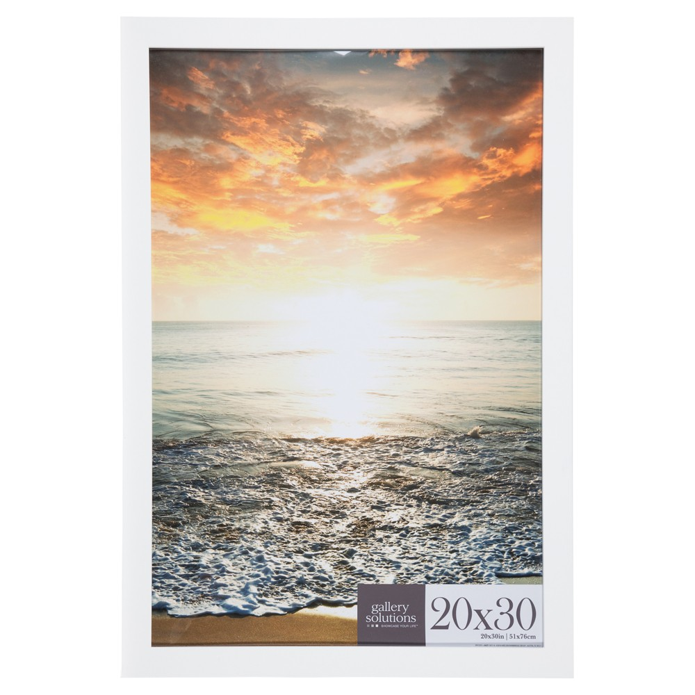 Image of 16X20 White Flat Large Wall Frame - Gallery Perfect
