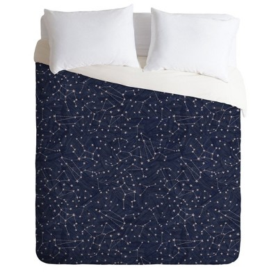 King Dash and Ash Starry Night Comforter Set Navy - Deny Designs