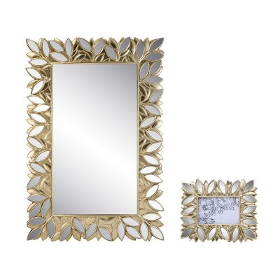 """OK Lighting Gaia Wall Plaque Mirror With Picture Frame (4""""X6"""")"""