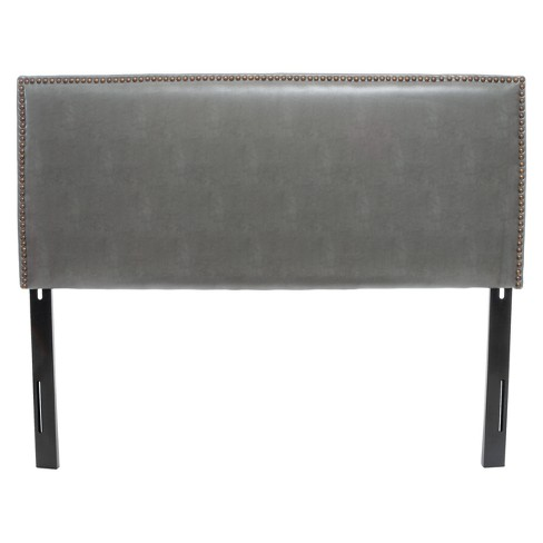 Hilton Bonded Leather Headboard Full/ Queen Dark Gray - Christopher Knight Home - image 1 of 4
