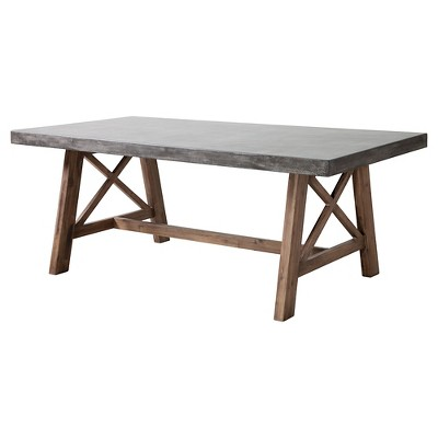 "79"" Industrial Rectangle Wood Dining Table   Zm Home by Zm Home"
