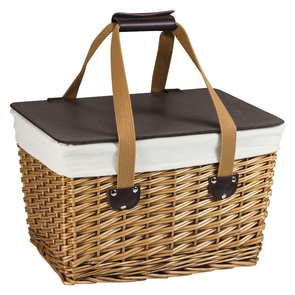Image of Picnic Time Canasta Picnic Basket, Brown