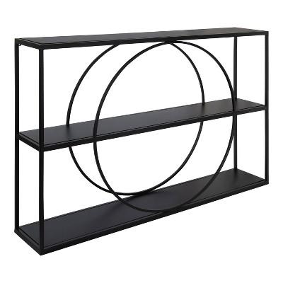 """36"""" x 24"""" Pirzada Geometric Wall Shelf Black - Kate & Laurel All Things Decor"""