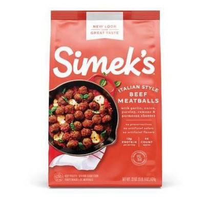 SIMEK'S Italian Style Beef Meatballs - Frozen - 22oz